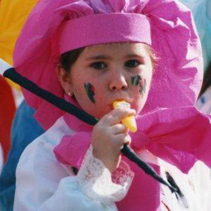 Una foto de Leire de niña